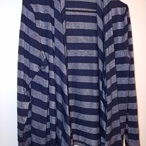 Navy blue and silver Cardigan